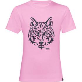 Jack Wolfskin Brand Koszulka Dzieci, lilac